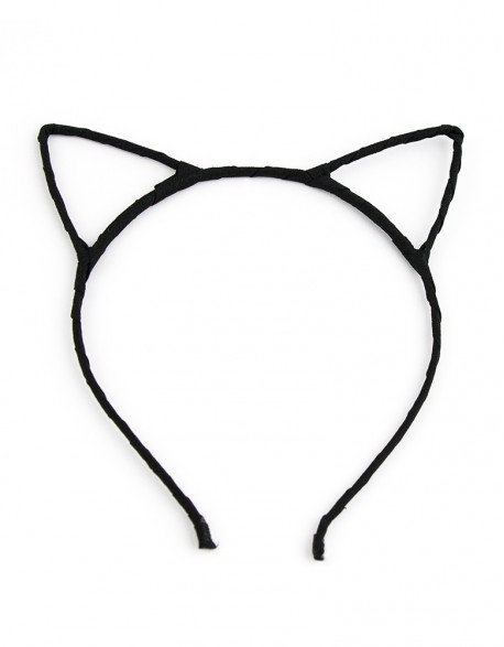 Opaska Kocie Uszy - Czarna