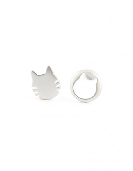 Kolczyki Koty Dwie Głowy