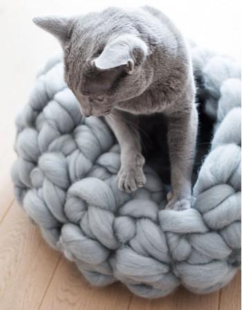 Legowisko dla kota z wełny Kotton Bed rozmiar M