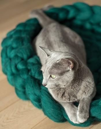 Legowisko dla kota z wełny Kotton Bed rozmiar L