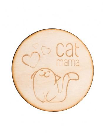 Podkładki drewniane Cat Mama - 4 szt.