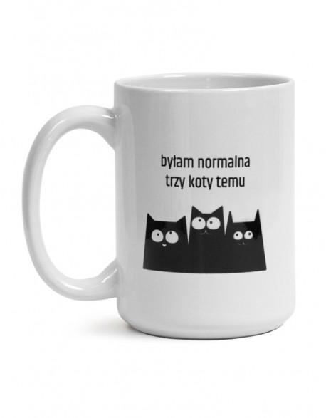 Kubek Duży z Kotem - normalność