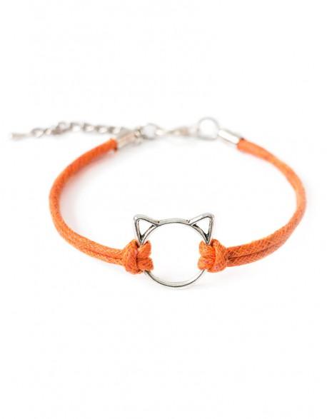 Bransoletka Kot Patyczak Pomarańczowy