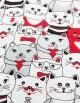 Spódnica, tłum kotów z czerwonym