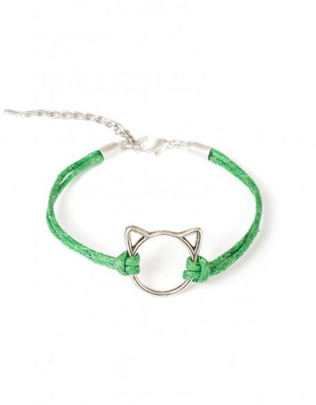 Bransoletka Kot Patyczak - zielony