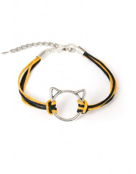 Bransoletka Kot Patyczak - czarno żółty